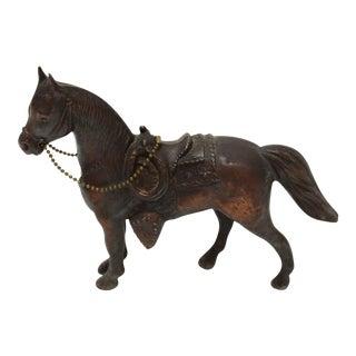 Vintage Pot Metal Horse Statue
