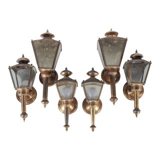 Outdoor Coach Wall Sconce Lanterns- Set of 6
