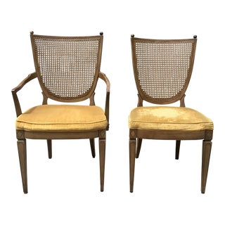 Vintage Caned Back Chairs - A Pair