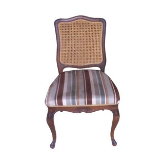 Cane Back Upholstered Dining Chairs - Set of 6