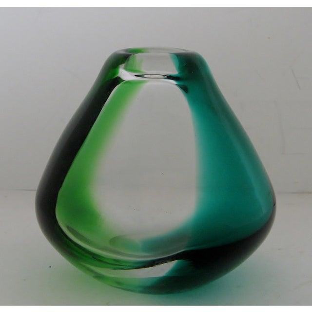 Erickson Vintage Blue & Green Glass Vase - Image 5 of 6