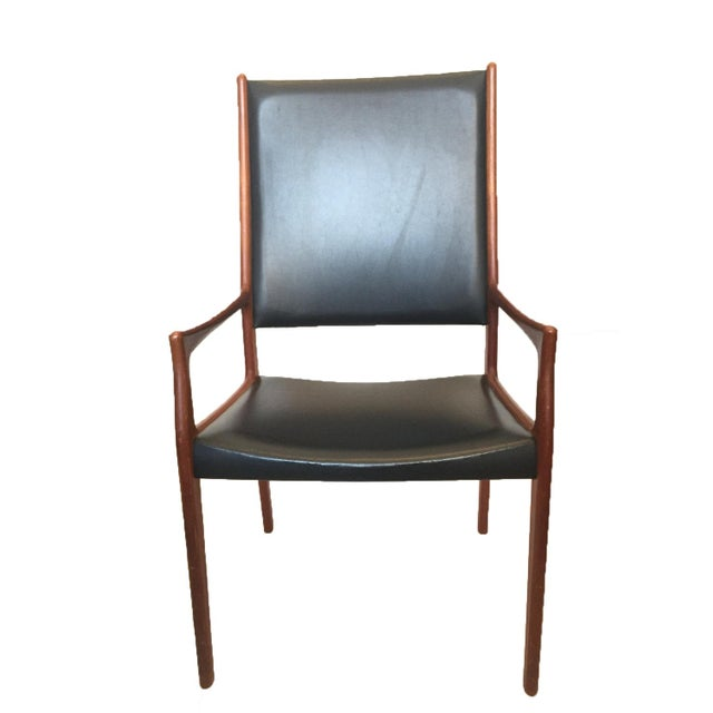 1960s Danish Modern Teak High Back Armchair - Image 2 of 2