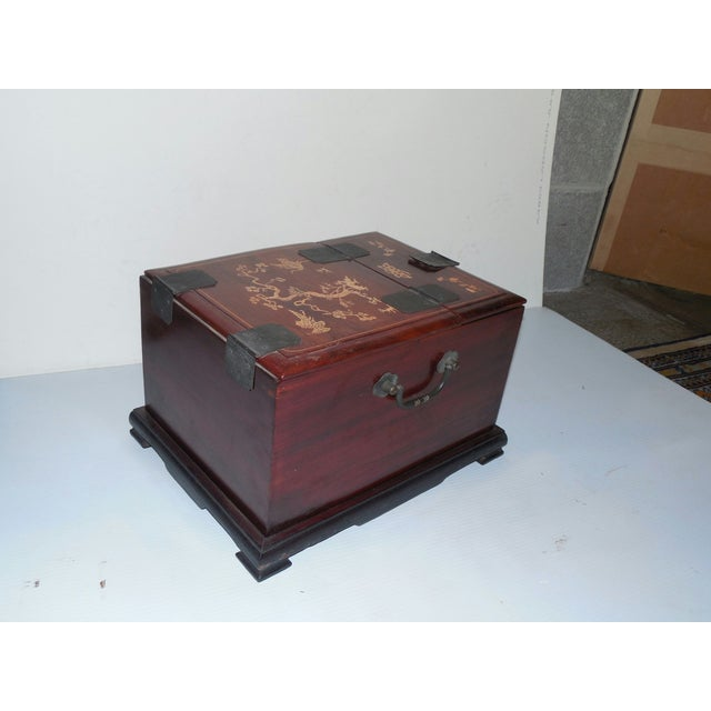 Image of Chinese Rosewood Dressing Box With Bone Inlay