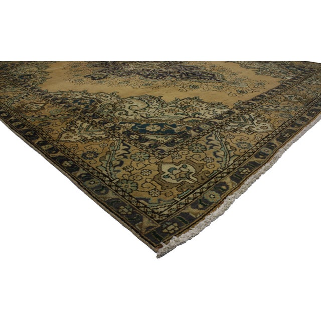 "Persian Tabriz Rug - 9'10"" X 11'2"" - Image 3 of 3"