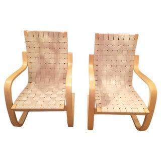 Alvar Aalto Mid Century Modern Armchairs - Pair