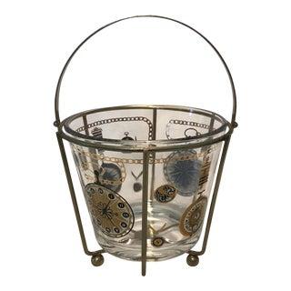 Mid-Century Time Motif Ice Bucket