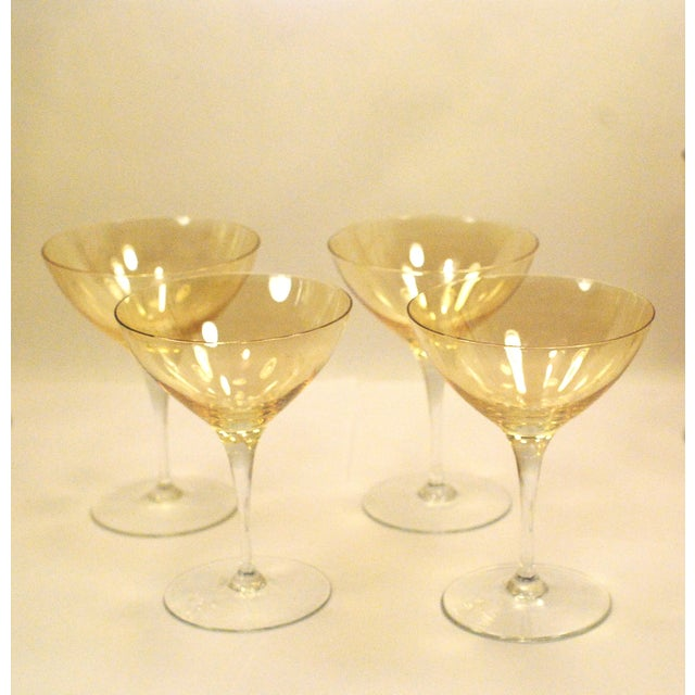 Bohemia Crystal Glassware Gold Iridescent - S/17 - Image 7 of 9