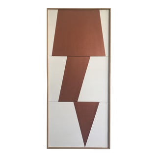 "Jason Trotter Original Acrylic Painting ""Copper Jagged Triptych JET0491"""