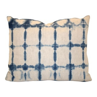Hand-Dyed Shibori Indigo Pillow
