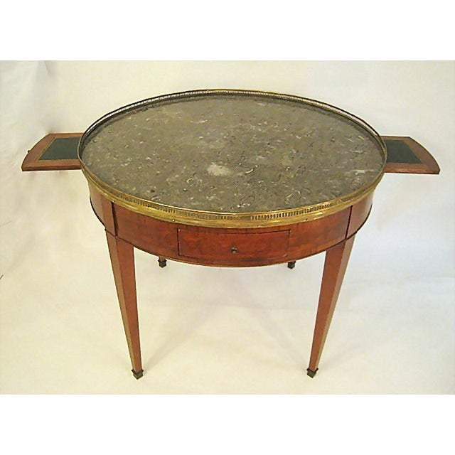 Large round french gueridon table chairish for Table gueridon