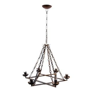 1920's Iron Star Form Chandelier