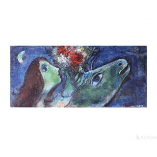 "Marc Chagall ""Woman With Green Donkey"" Poster"