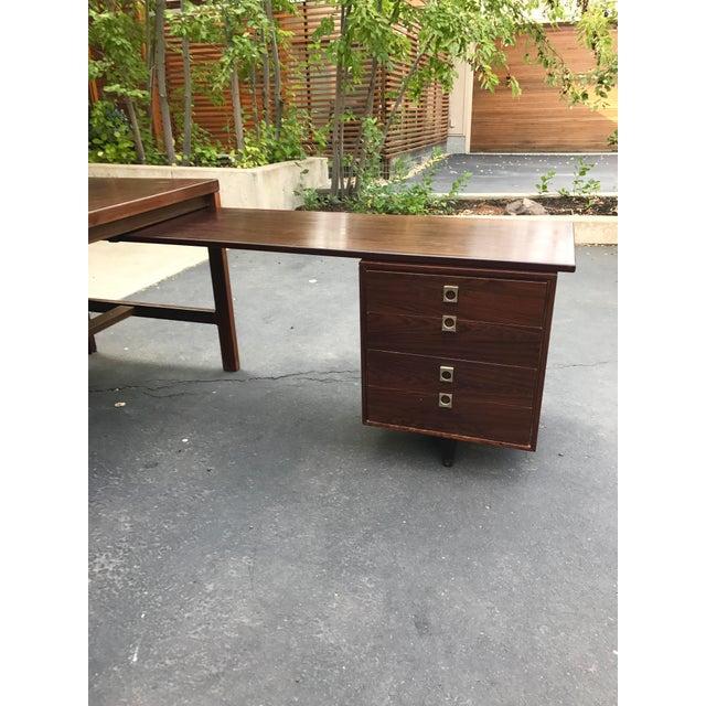 Arne Vodder Executive Rosewood Desk - Image 3 of 5