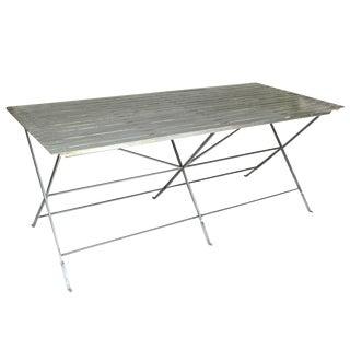 Slatted Steel Table