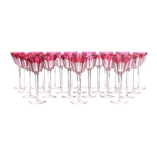 12 BACCARAT RUBY GOBLETS, TALL AND ELEGANT. SOLD INDIVIDUALLY