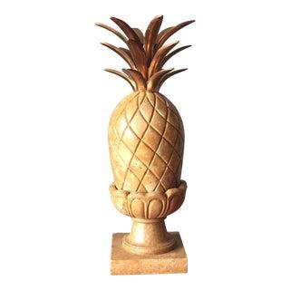 Marble & Brass Pineapple on Pedestal