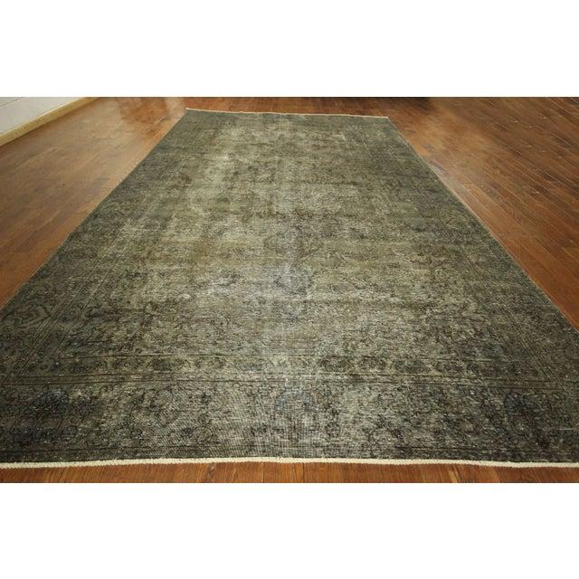 Image of Overdyed Dark Gray Irani Persian Rug 9' x 15'