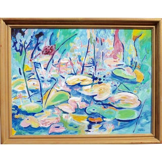 """""""Lilies in the Pond"""" Plein Air Oil Painting"""