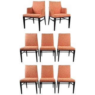 Set of Eight Formal Dining Chairs by Edward Wormley for Dunbar