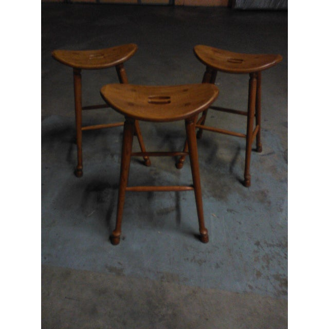 Image of Saddle Seat Bar Stools - Set of 3