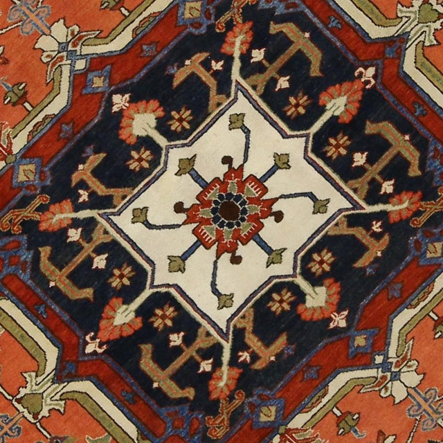 "Contemporary Persian Heriz Rug - 15' x 18'10"" - Image 4 of 9"
