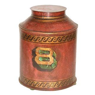 English Tea Leaf Tin Container