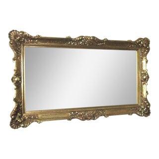 rococo style gold composition mirror