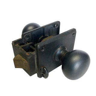 Antique Industrial Steel Lock & Door Knobs