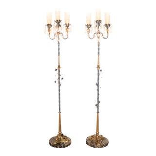 Italian Floor Lamps - Pair