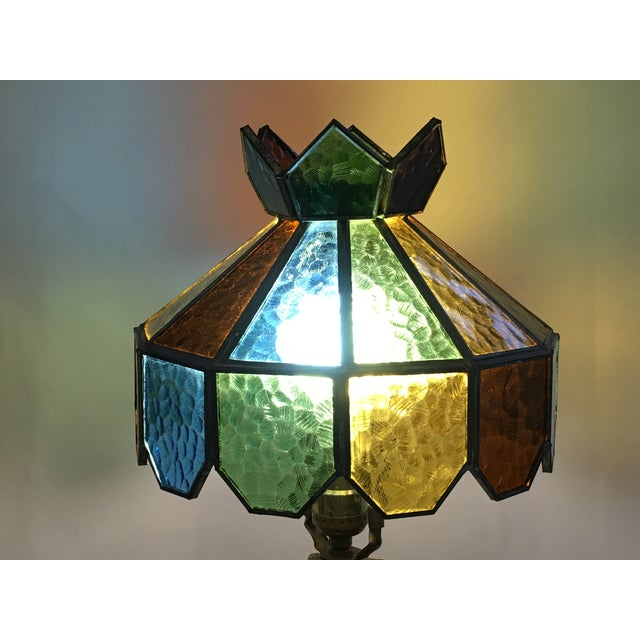 Vintage Multi Colored Stained Glass Lamp Shade Chairish