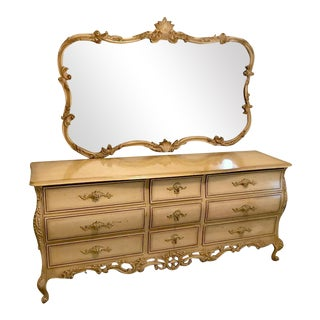 Karlit Swedish Rococo Style Dresser & Mirror