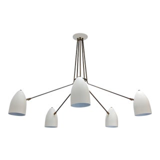 LU Five-Arm Flush Mount Chandelier