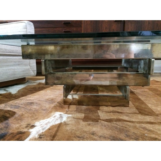 Paul Mayen Brass Stacked Coffee Table - Image 4 of 9