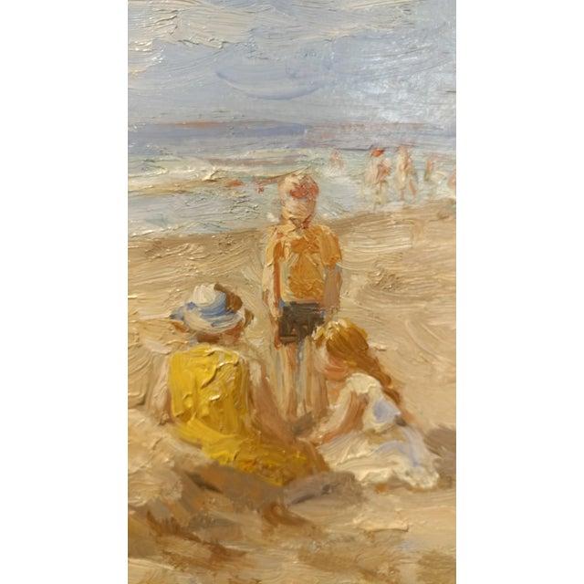 "Anton Karssen ""Children Day at the Beach"" Original Oil Painting - Image 7 of 10"
