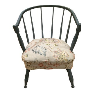 Country Style Blue Milk Paint Chair