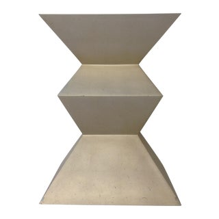 Sirmos Silver-Leaf Cubist Dining Table Base