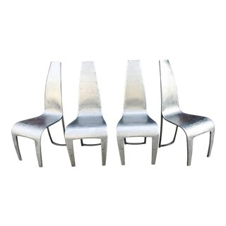 Galvanized Steel Side Chairs - Set of 4