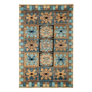 "Eclectic, Hand Knotted Area Rug - 5' 4"" X 8' 1"""