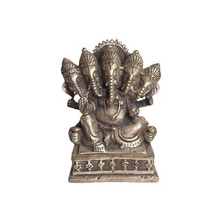 Indian Ganesha Silver Statue
