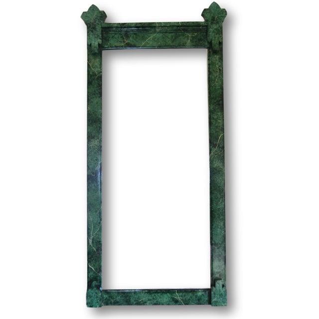 Refurbished Vintage Green Faux Marble Mirror - Image 1 of 7