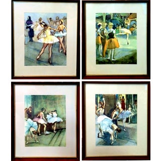 Vintage Degas Ballerina Lithographs - Set of 4