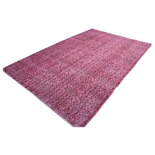 1940s Pink Overdyed Turkish Rug - 6′4″ × 9′