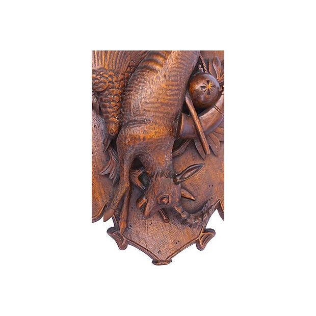 Antique Hand-Carved Hunting Wall Plaque - Image 3 of 6