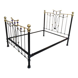 Queen Size Iron & Brass Bed