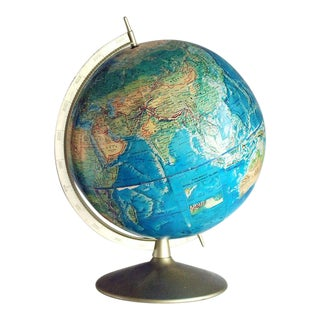 1960s Rand McNally World Portrait Globe