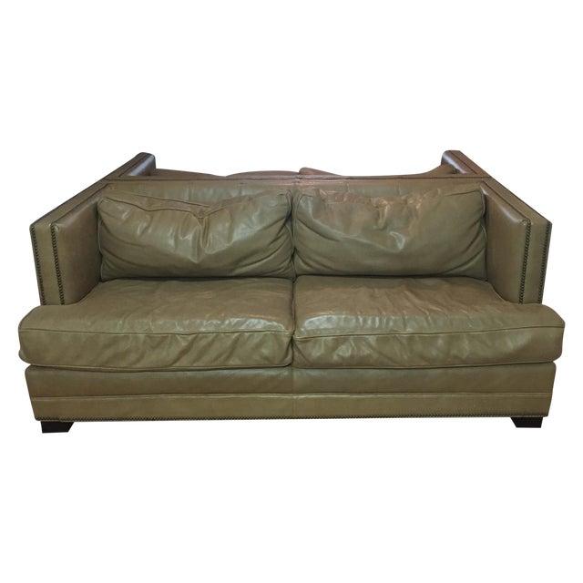 Restoration Hardware Sofa Throws: Restoration Hardware Leather Sofas - A Pair