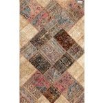 Image of Hand Knotted Patchwork Rug - 4′10″ × 7′8″