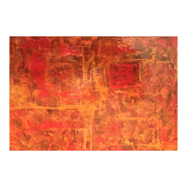 Bryan Boomershine Red-Orange Abstract Painting - Image 1 of 5