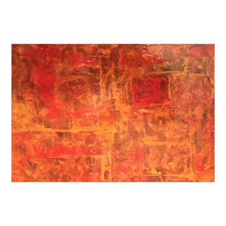 Bryan Boomershine Red-Orange Abstract Painting