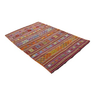 Vintage Turkish Kilim Rug - 4′8″ × 7′1″